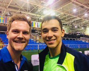 Hugo Calderano bei der Tischtennis WM