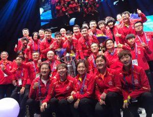 Team China bei der Tischtennis WM